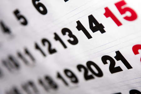 event management: calendar Stock Photo