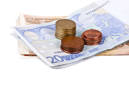 timbre: euro banknotes and coins