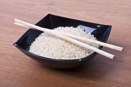 white rice harvest in studio photography photo