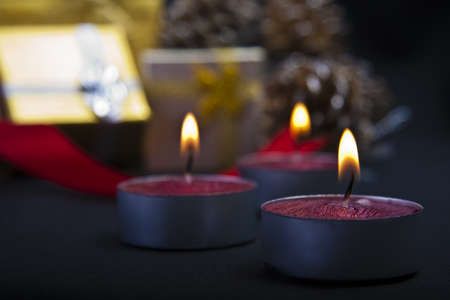 christmas scene with candles photo