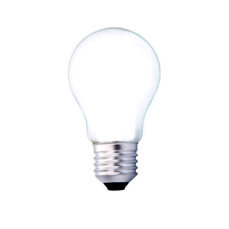 light bulb isolated on white background, household appliances and industry photo
