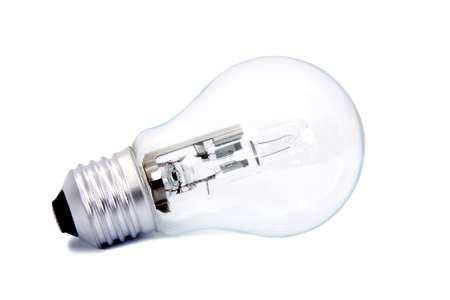 light bulb isolated on white background, household appliances and industry