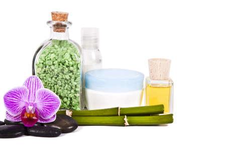 Cosmetica en toiletartikelen en schoonheid Stockfoto - 17946645