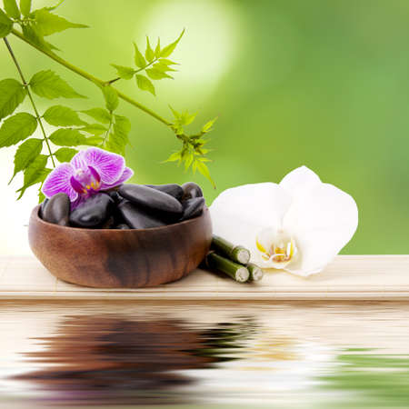 perfumed candle: spa concept, background
