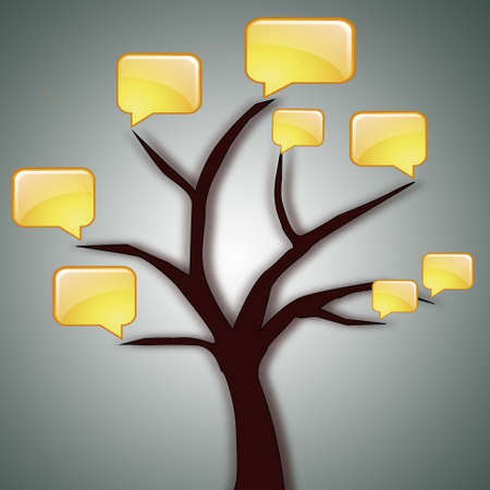 illustration of tree with sandwiches communication illustration