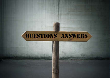 questions, answers Stock Photo - 20304507