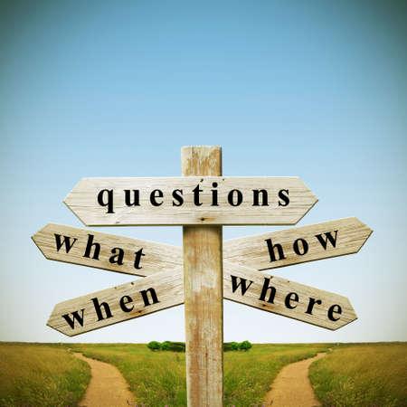 Vragen en antwoorden Stockfoto - 20593822