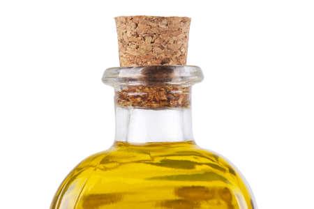 oil bottle: oil bottle on white background Stock Photo