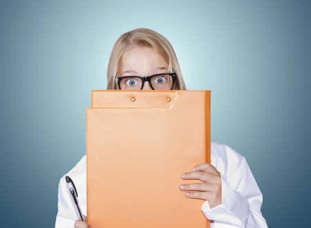 girl with doctor uniform photo