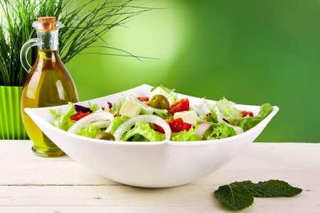vegetable salad healthy and balanced diet, creative cuisine