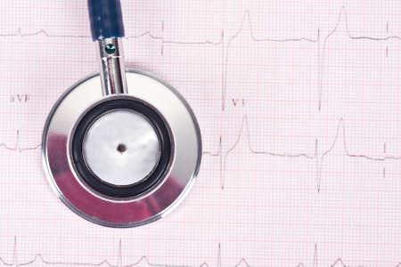 stethoscope isolated on white background, medical equipment photo
