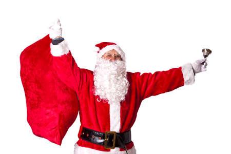 santa s bag: Santa Claus Stock Photo