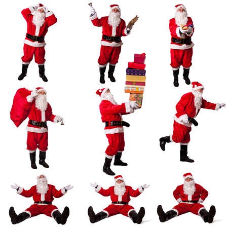 santa claus collection isolated photo