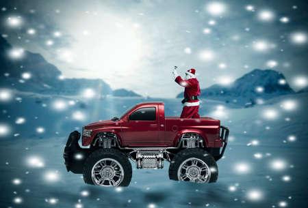 new year s santa claus: santa claus, christmas Stock Photo