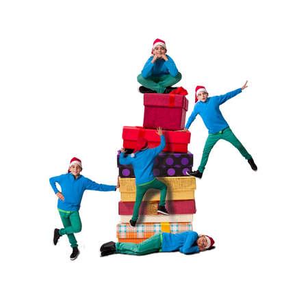 endearing: santa claus, christmas Stock Photo