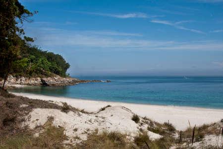 best travel destinations: cies natural park islands, Galicia, Spain