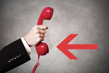 hand en telefoon
