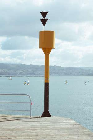 signaling: signaling port Stock Photo