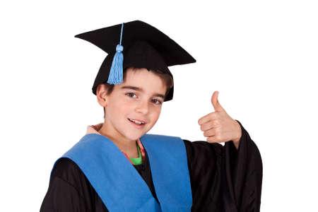 tenacious: isolated child clothes graduation Stock Photo