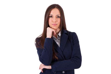 positive attitude: business woman smiling positive attitude