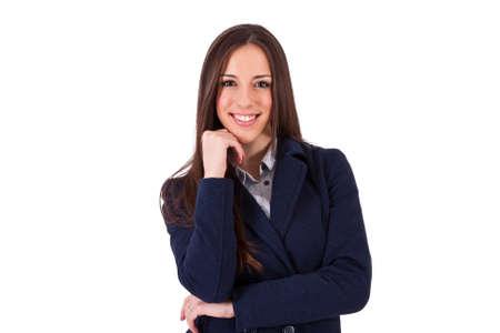 business woman smiling positive attitude