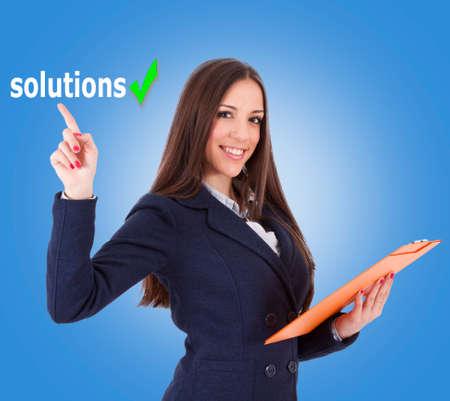 positive attitude: business woman in positive attitude, lifestyle Stock Photo
