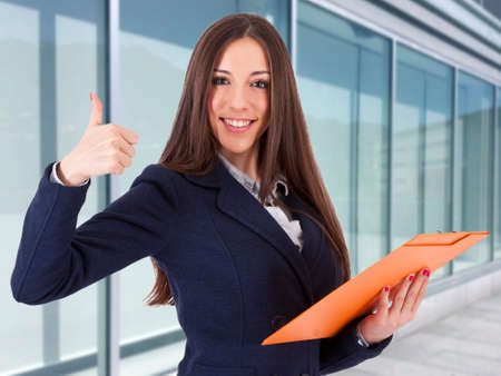 positive positivity: business woman in positive attitude, lifestyle Stock Photo