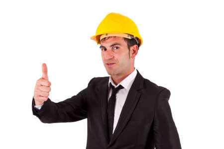 ok symbol: Ingegnere facendo bene simbolo