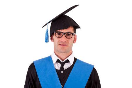 toga: portrait of student toga Stock Photo