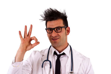 oncologist: young doctor doing ok sign