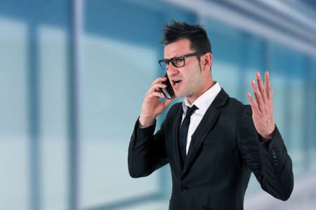 businessman with phone photo