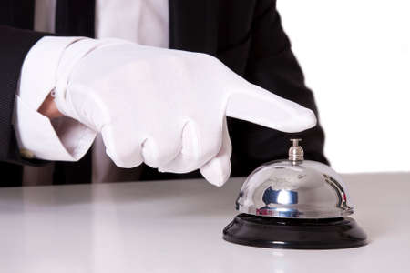 butler: butler bell Stock Photo