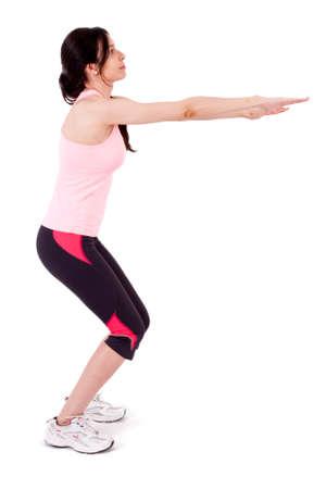 girl squatting: girl squatting