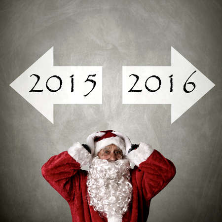 turn of the year: santa claus with addresses turn of the year