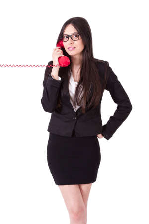 woman on phone: business woman with phone