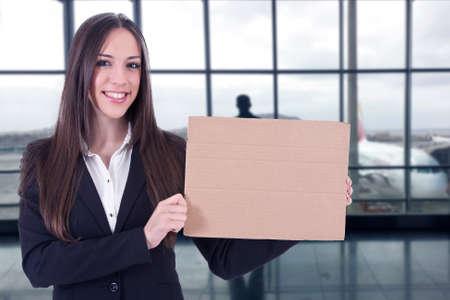 stewardess: stewardess sign at the airport