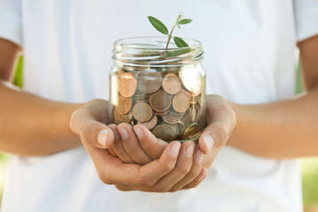 mutual fund: concept of saving, economy and finance Stock Photo