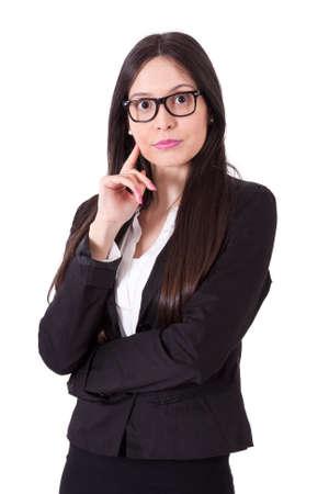 hispanica: business woman thinking