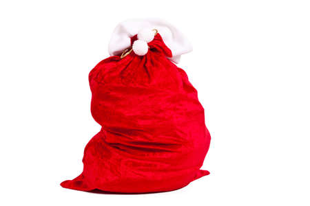 santaclaus: santa claus sack isolated on white