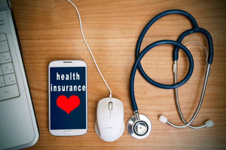 health insurance and health care Standard-Bild