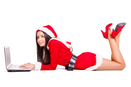 attractive women: santa claus girl