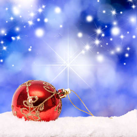 christmas ornaments: abstract background with christmas ball
