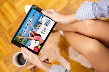 virtual travel agency, vacation Stock Photo