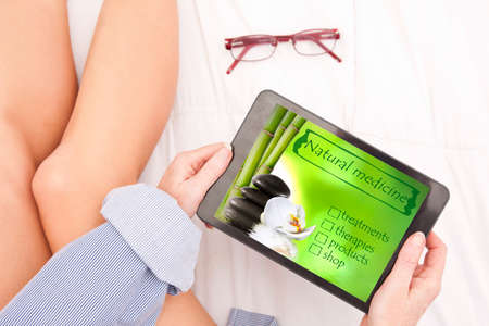 natural medicine consulting the web Stock Photo