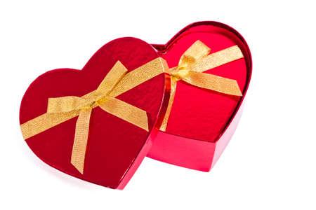 heart shaped box: heart shaped box with bow isolated