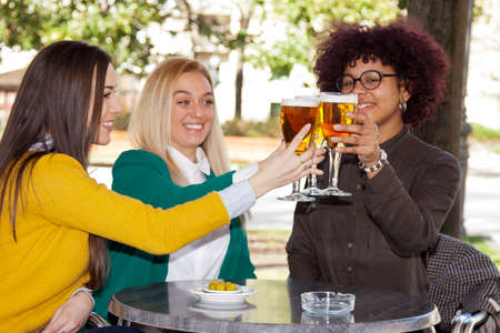 providing: providing meeting friends Stock Photo