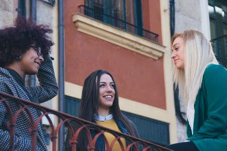 teen girls: group of girls on the street