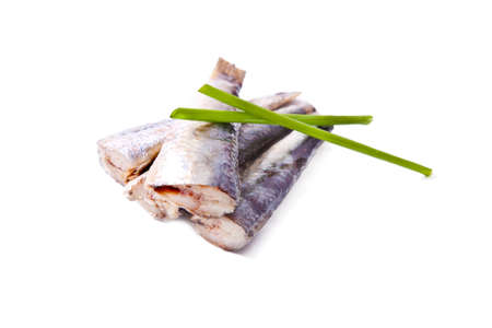 prepared: prepared sardines isolated