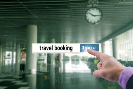 tour operator: travel search engine Stock Photo