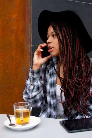 woman on phone: woman talking on phone
